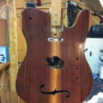 tele front being oiled